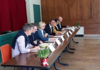 Avec les membres du comité de concours agricole Val d'Arroux Gueugnon