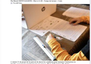 """""""La députée Josiane Corneloup veut sauver l'école à la maison"""", le 10/20/2021."""